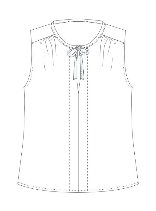 Itch-to-Stitch-Vienna-Tank-PDF-Sewing-Pattern-View-B-Front-Line-Drawing