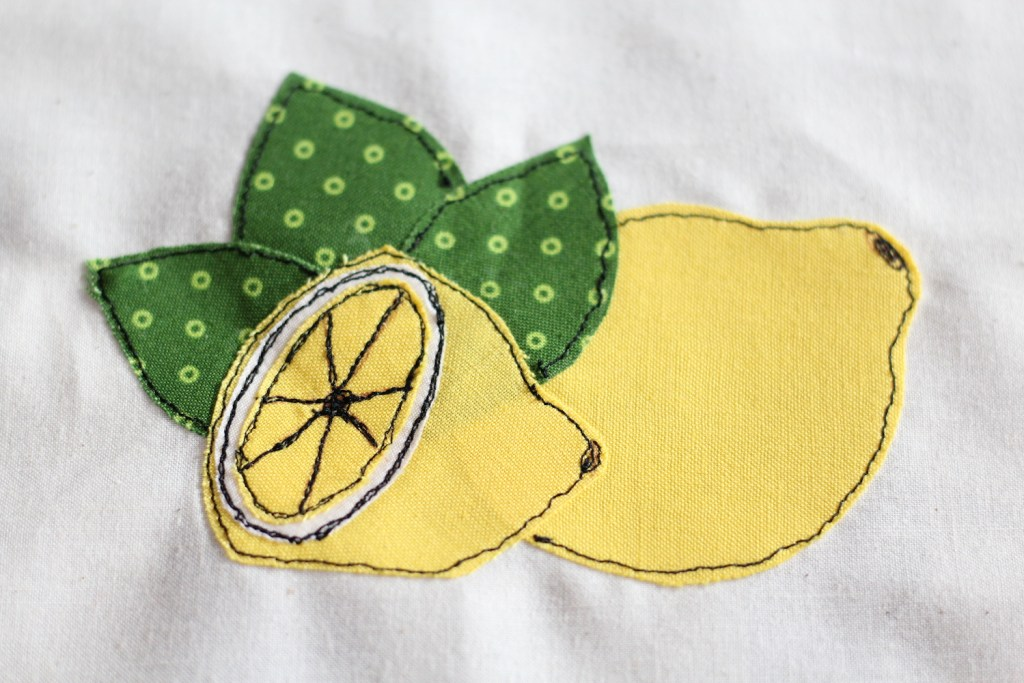 Free Motion Applique with a Free Download