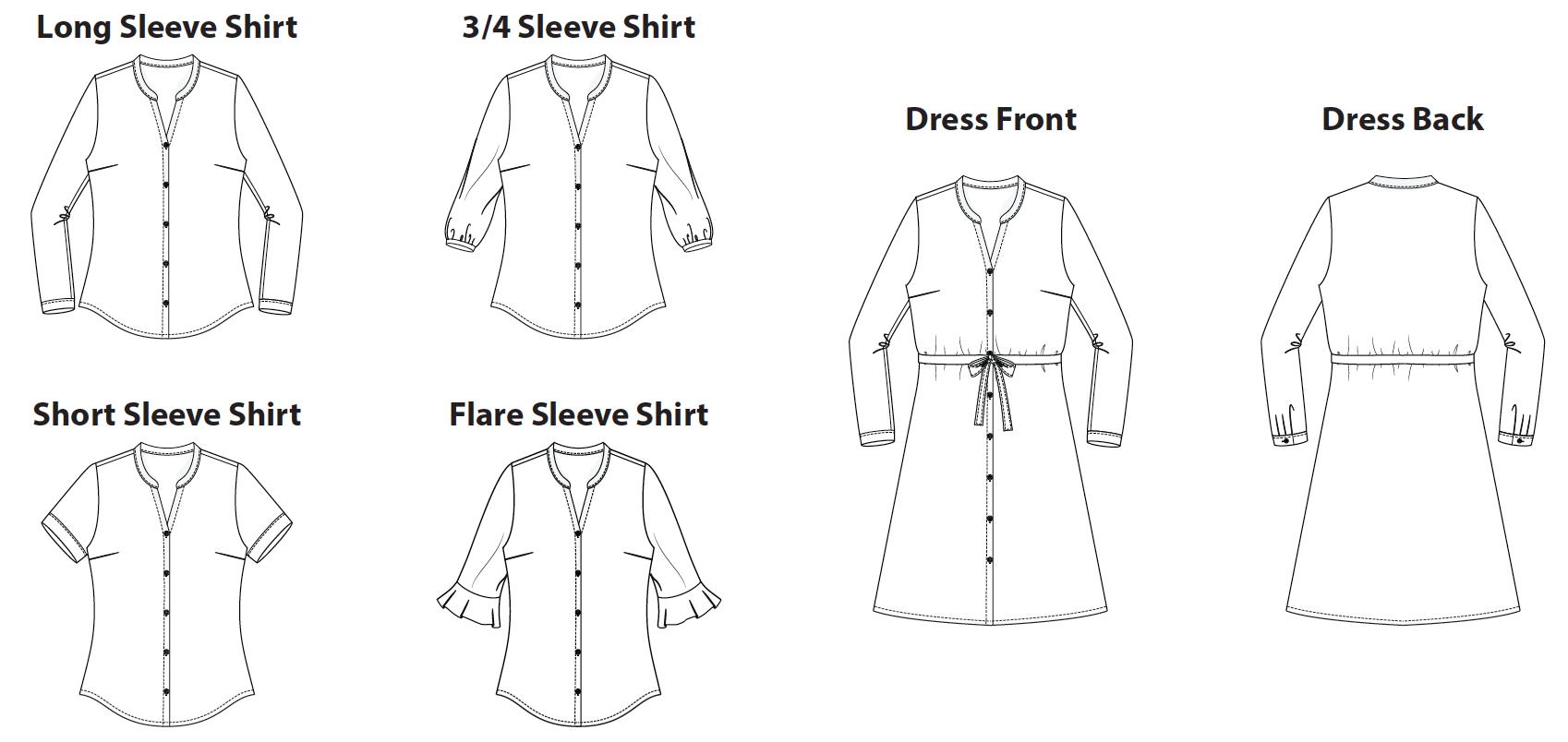 Bonn Shirt & Dress Digital Sewing Pattern (PDF) - Itch To Stitch