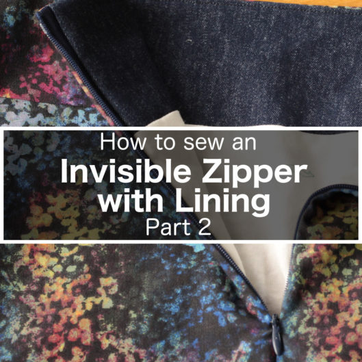 How to sew an invisible zipper with lining - Part 2