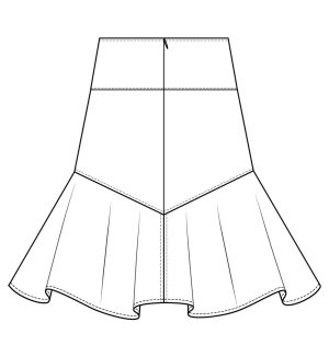 Itch to Stitch Vientiane Skirt Line Drawing Back Patch Pocket Option
