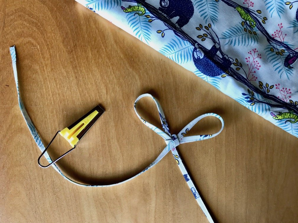 How to make fabric drawstring
