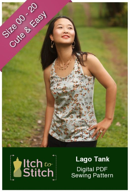 Free Pattern Itch to Stitch Lago Tank
