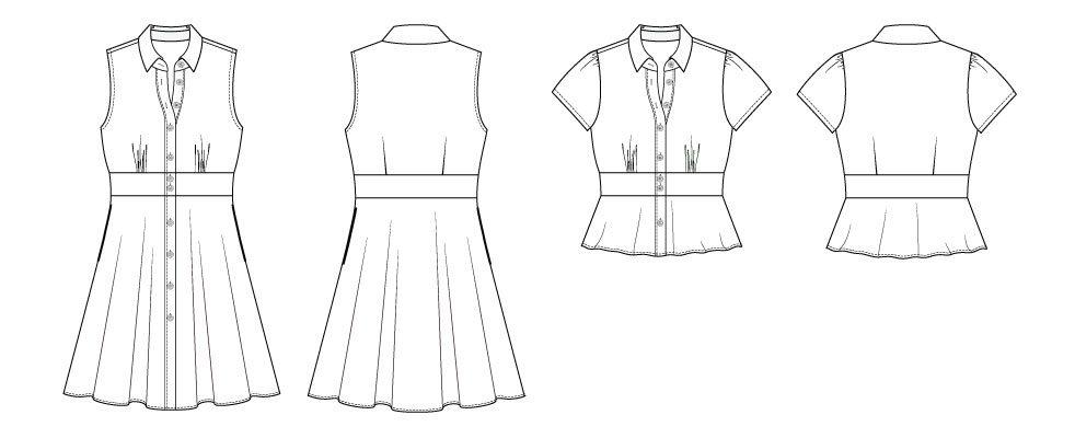 Chai Shirt & Dress Digital Sewing Pattern (PDF) - Itch To Stitch