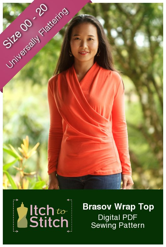 Itch to Stitch Brasov Wrap Top PDF Sewing Pattern