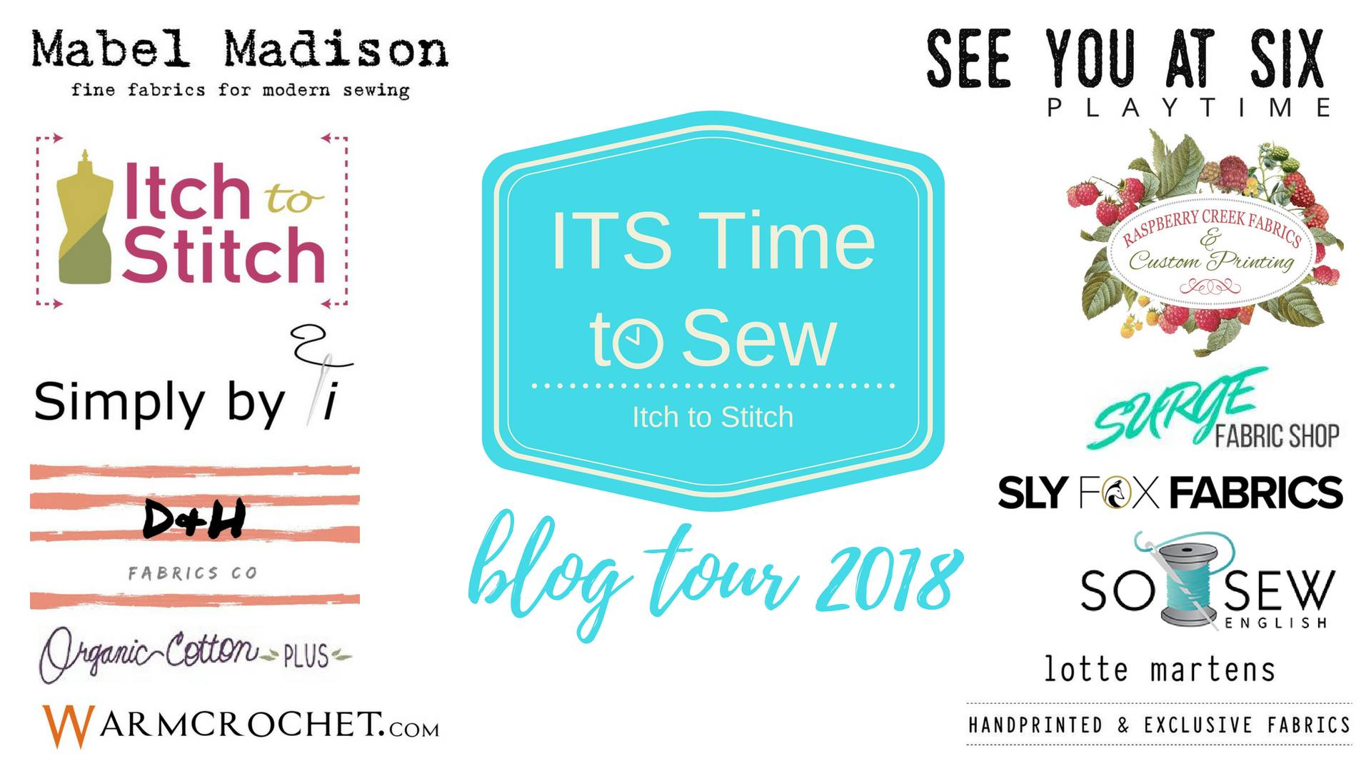 Itch to Stitch ITS Time to Sew Blog Tour sponsors
