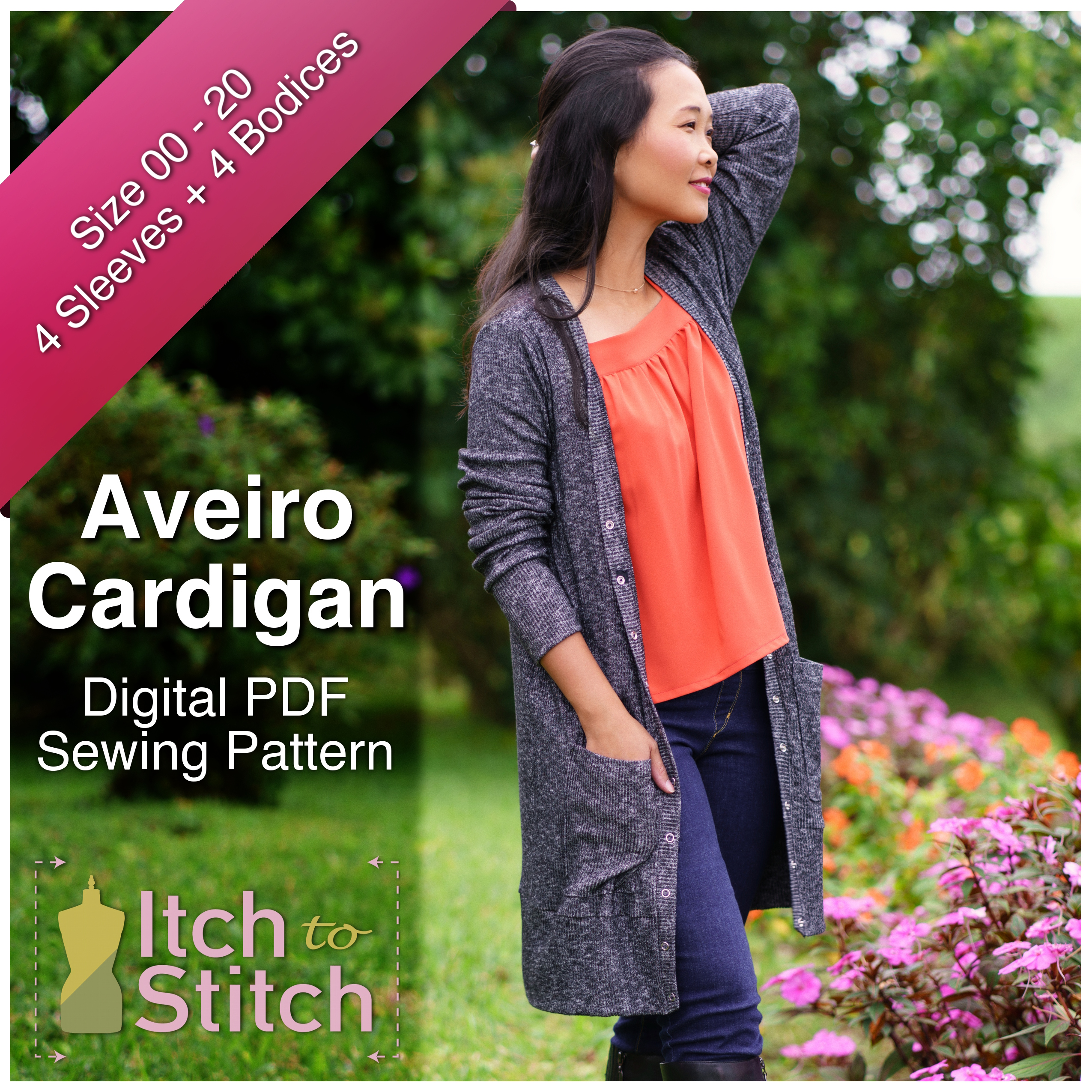 Aveiro Cardigan PDF Sewing Pattern