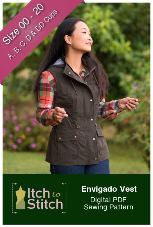 Itch to Stitch Envigado Vest PDF Sewing Pattern