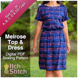 Melrose Top & Dress PDF Sewing Pattern