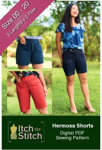 Itch to Stitch Hermosa Shorts PDF Sewing Pattern