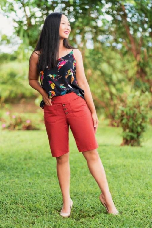 Itch to Stitch Hermosa Shorts PDF Sewing Pattern Long Length 1