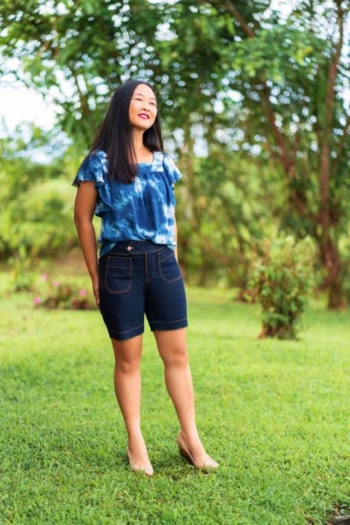 Itch to Stitch Hermosa Shorts PDF Sewing Pattern Medium Length 1