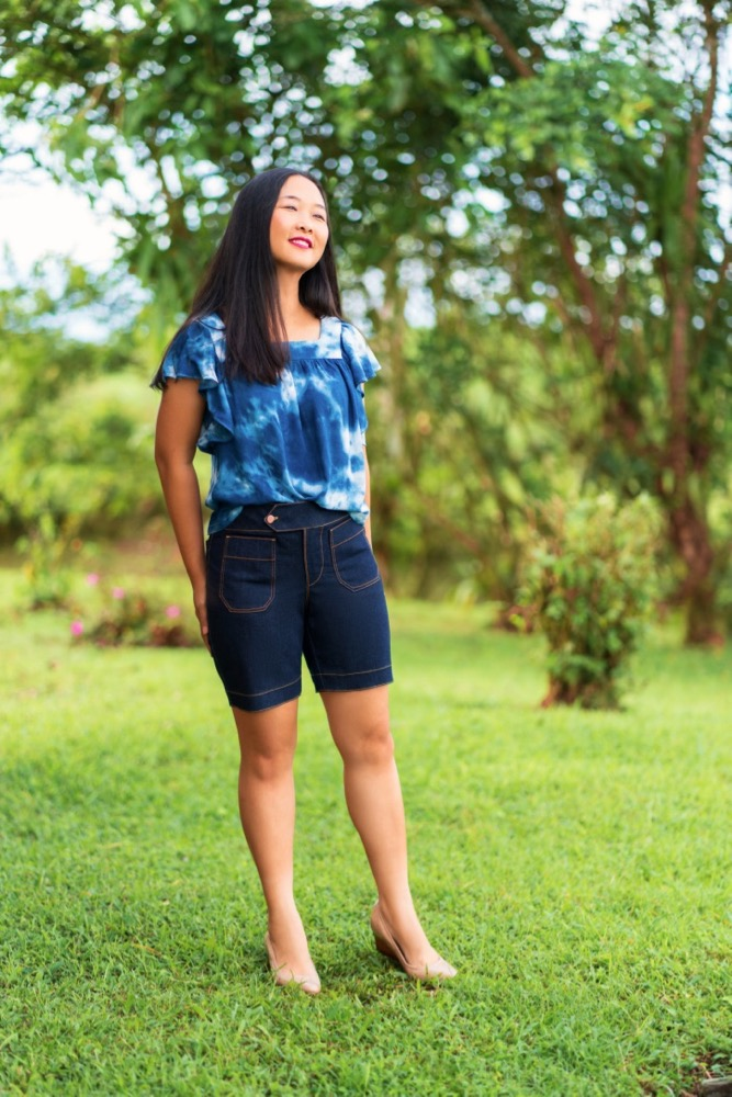 Itch to Stitch Hermosa Shorts PDF Sewing Pattern Medium Length 1