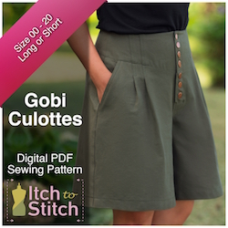 Gobi Culottes PDF Sewing Pattern