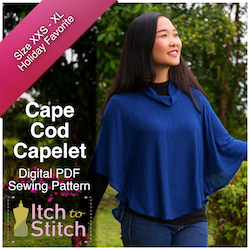 Cape Cod Capelet PDF Sewing Pattern