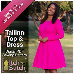 Tallinn Top & Dress PDF Sewing Pattern