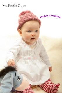 Newborn baby bobble hat pattern