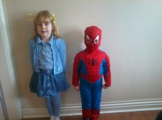 little miss chatterbox and spider girl