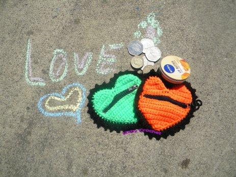 Love heart purses