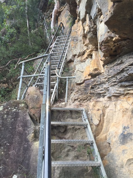 Bloody stairs!