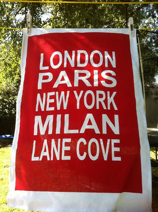 red lane cove tea towel
