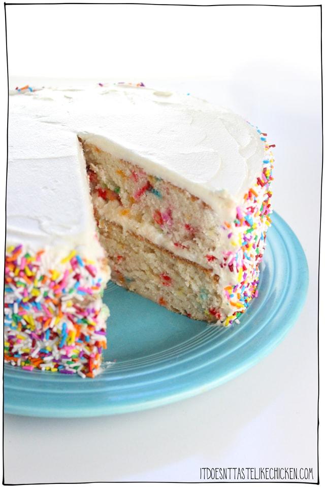 Vegan Confetti Cake It Doesnt Taste Like Chicken