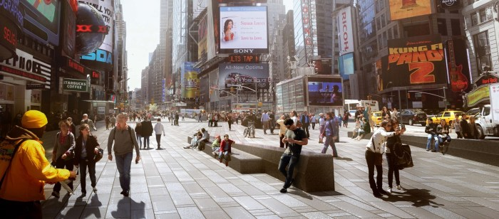 Snøhetta's proposed design for Times Square