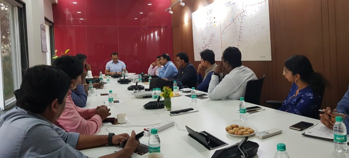 Mr. Kunal Kumar interacts with the Tamil Nadu team and shares his recommendations for the success of the smart city projects.