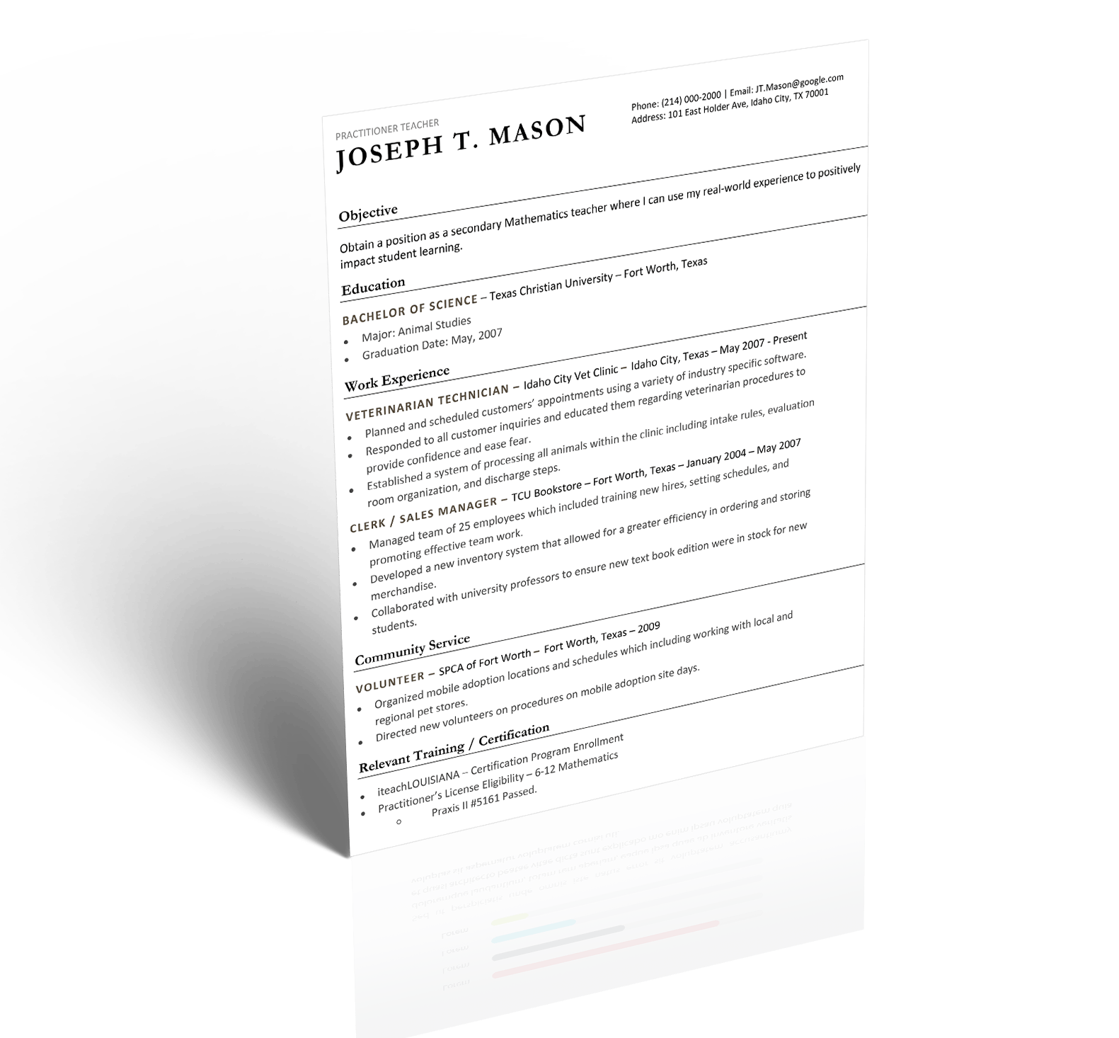 Resume Mockup Teacher Resume 5 Minute Guide To Writing The Perfect Resume