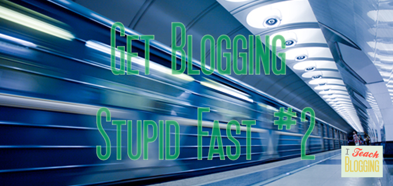 How to get started blogging fast