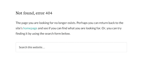 Tips on 404 Pages