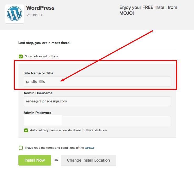 setup-your-WordPress-sitename