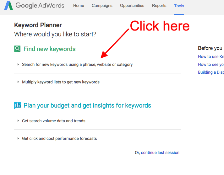 tips on finding longtail keywords