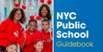 Teachers with their students in a NYC Public School Guidebook Graphic