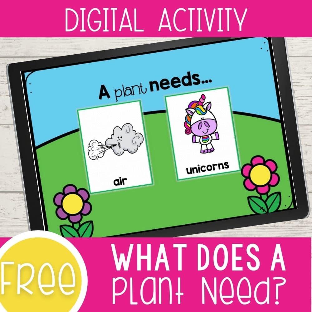 medium resolution of What Plants Need to Grow Kindergarten Digital Science Activity - I Teach Too