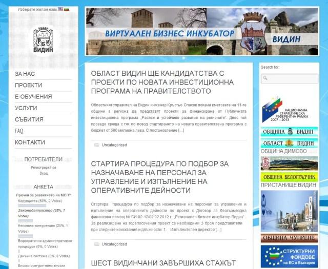 Бизнес Инкубатор - Видин| vbi-vidin.eu | Web Design | Business Incubator