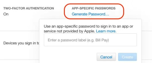 app-specific password