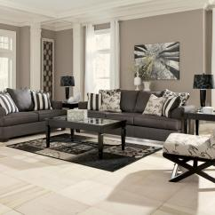 Black Sofa With Accent Chairs Set Foam And White For Living Room