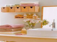 Hanging Wooden Horizontal Cabinet for Small Storage Bathroom