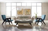 ivory-arm-sofa-with-blue-and-wooden-arm-accent-chairs-for ...