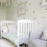 golden-polka-dot-wall-decals-for-nursery