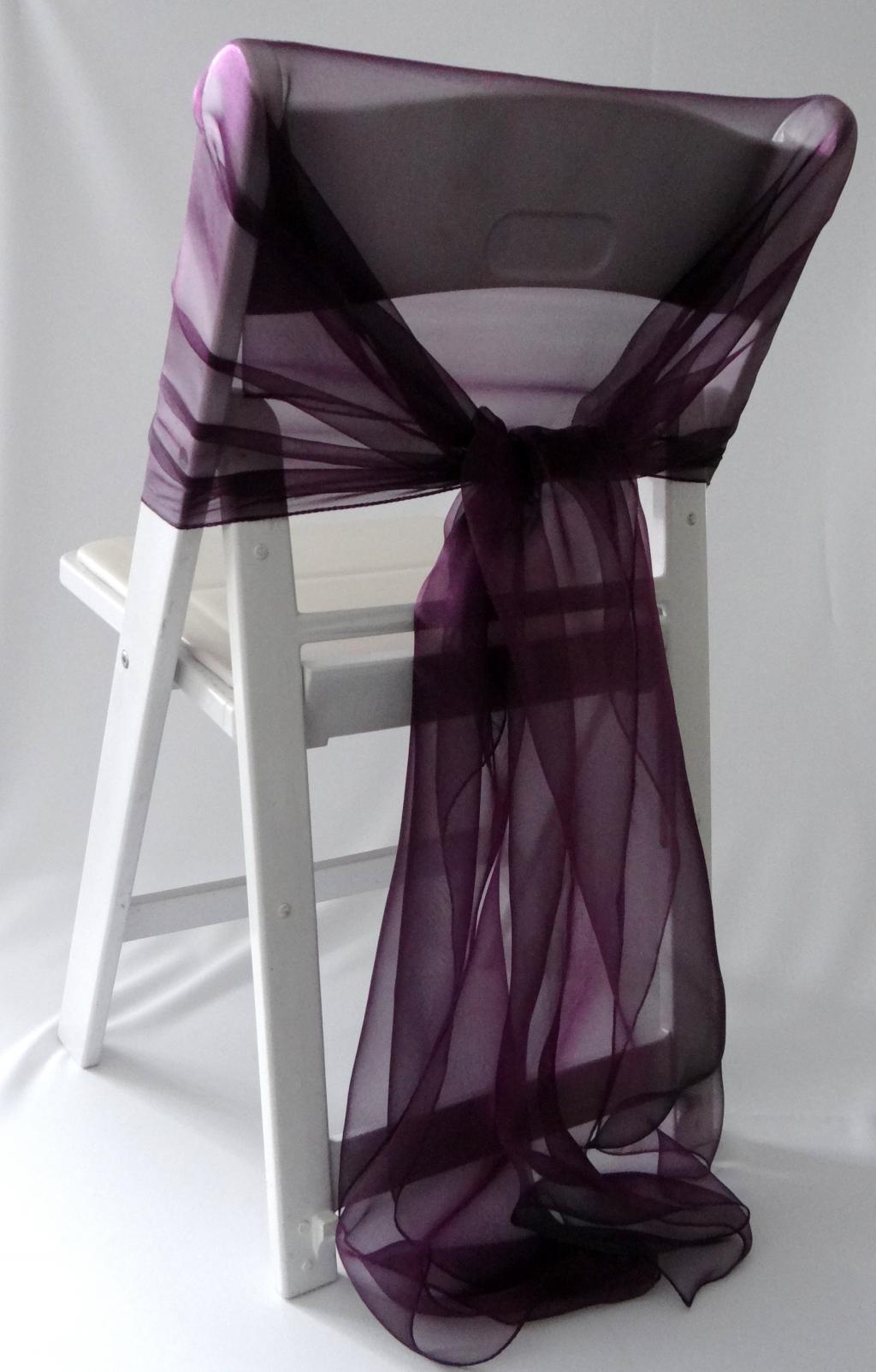 folding chair covers diy horse saddle office lux with purple ribbons  home