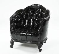 Black Leather Sofa And Chair. Gothic Black Leather Sofa ...