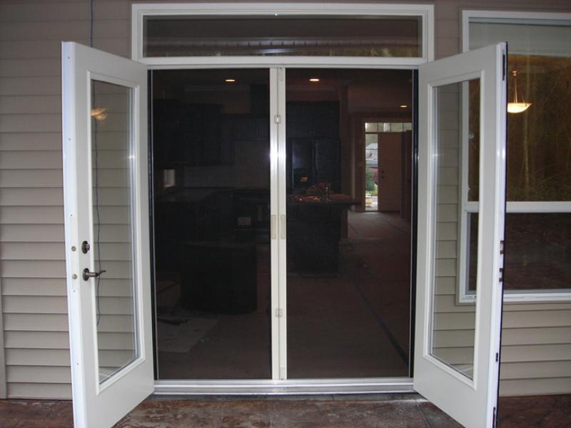 Lowes French Doors Exterior with screen