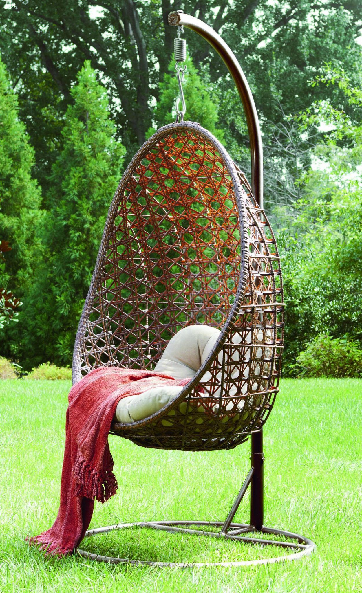 Outdoor Hanging Egg Chair Make The Days Feel Comfortable And Relaxed With Adorable