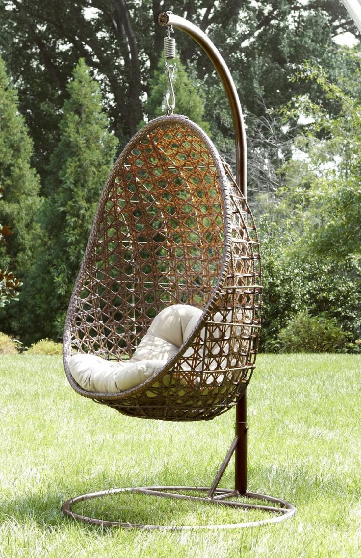 Egg Chair That Hangs From The Ceiling Rattan Outdoor Hanging Ceiling Chair
