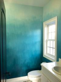 DIY Painted Ombre Wall For Apartment Decor Ideas