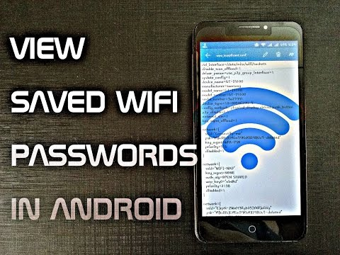 see saved wifi passwords in android