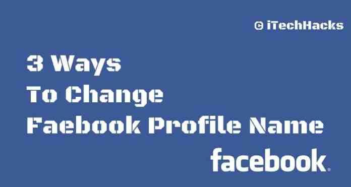 Change Facebook Profile Name