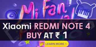 Xiaomi Flash ₹1 Mi Fan Festival Sale Buy Redmi Note 4 at ₹1